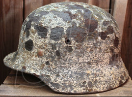 Winter camo helmet M35 / from Koenigsberg