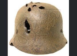 German helmet M42 / from Stalingrad