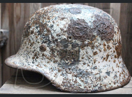 Winter camo Wehrmacht helmet M40 / from Belarus