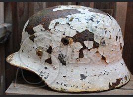 Winter camo helmet M40 / from Novgorod