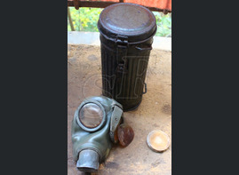 Gas mask + canister / from Tver