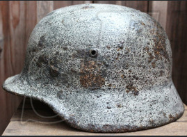 Winter camo Wehrmacht helmet M40 / from Tapiau