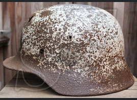 Winter camo Wehrmacht helmet M40 / from Novgorod