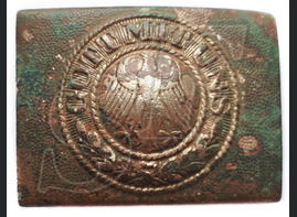 "Weimar Republic Buckle ""Gott mit Uns"" / from Stalingrad"