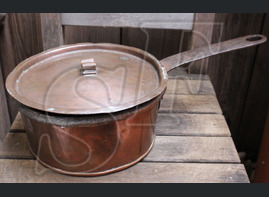 Copper pot, handmade / from Koenigsberg