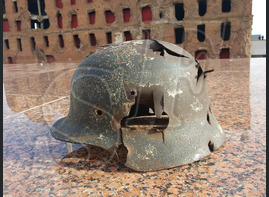 Steel helmet M35 from airfield Gumrak