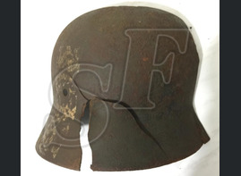 The remains of steel helmet from Kolpino