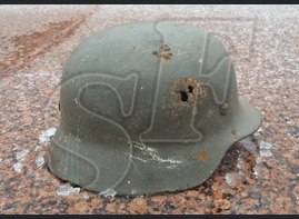 Steel helmet M40 from village of Novaya Nadezhda