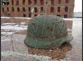 German steel helmet M35 from Smolensk region