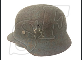 German steel helmet M35 from village Marinovka
