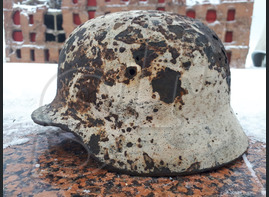 German steel helmet M40 from Novgorod region