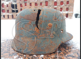 German steel helmet M35 from airfield Gumrak