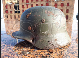 German steel helmet M35 from Pitomnik airfield