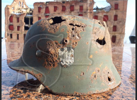 German steel helmet M35 from airfield Pitomnik