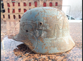 German steel helmet M35 from village Novaya Nadegda