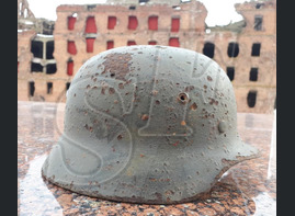 German steel helmet M35 from Stalingrad