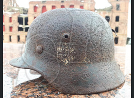 German helmet M40 from airfield Pitomnik