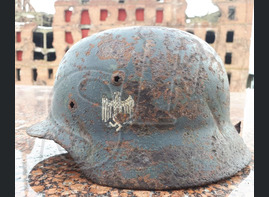 German helmet M35 from village of Rossoshka