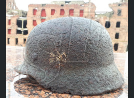 German helmet M40 from village of Rossoshka