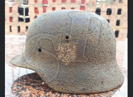 German steel helmet M40 from airfield Gumrak
