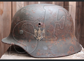 German steel helmet M40 from Stalingrad