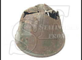 Steel helmet M38 from Stalingrad