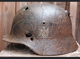 German steel helmet M40 from village Orlovka