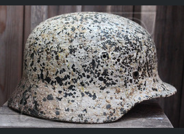 German steel helmet M40 from village Zapadnovka