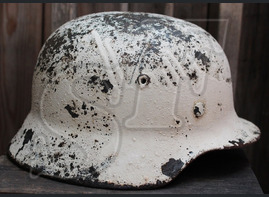 "German helmet M40 ""Winter Camo"" from Stalingrad"