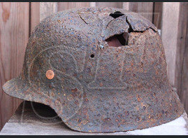 German helmet M42 from Pillau (now Baltiysk)