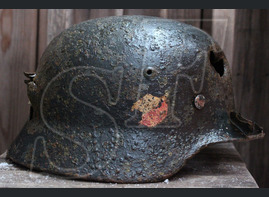 German helmet M35 from city of Vyazma