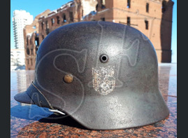 German helmet M35 from village Peskovatka