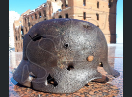 German helmet M35 from airfield Gumrak