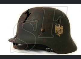 German helmet M40 from Rzhev