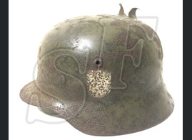 German helmet M35 from village Orlovka