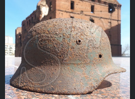German helmet M35 from village Orlovka (Stalingrad region)