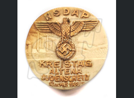 "Badge ""NSDAP Altena Lüdenscheid 13.u.14.5.1939"""
