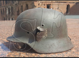Steel helmet M40 from village Orlovka