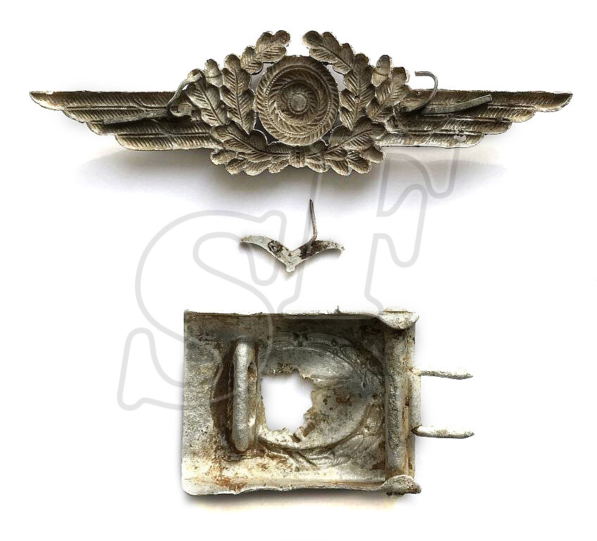 Cockade Luftwaffe, Buckle, emblem from a buttonhole / from Stalingrad