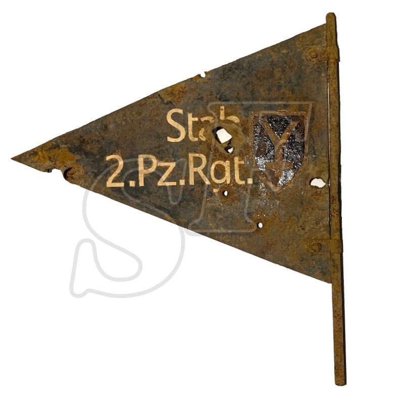 Road signpost of 16th Panzer Division (Wehrmacht) / from Stalingrad