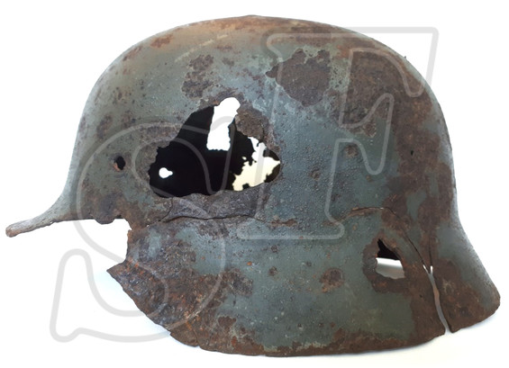 German steel helmet M35 from Mamayev Kurgan (Stalingrad)