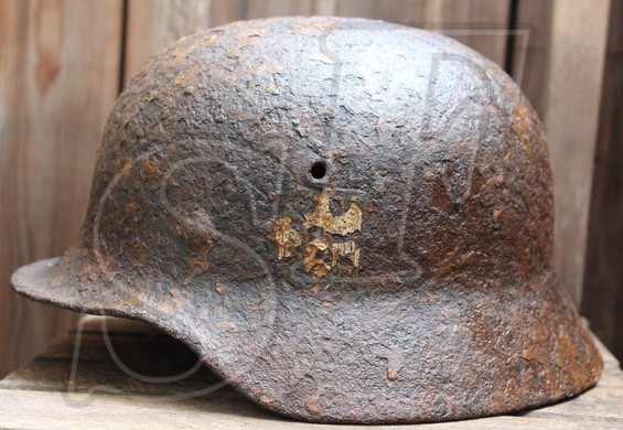 German helmet М40 from Kaluga region