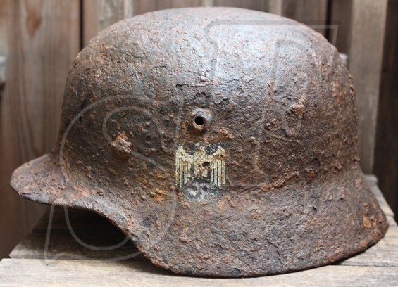 German helmet М40 from Kaluga