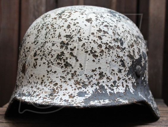 German helmet М40 from Vitebsk, Belarus
