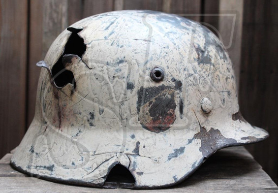 German helmet М35 from Leningrad region