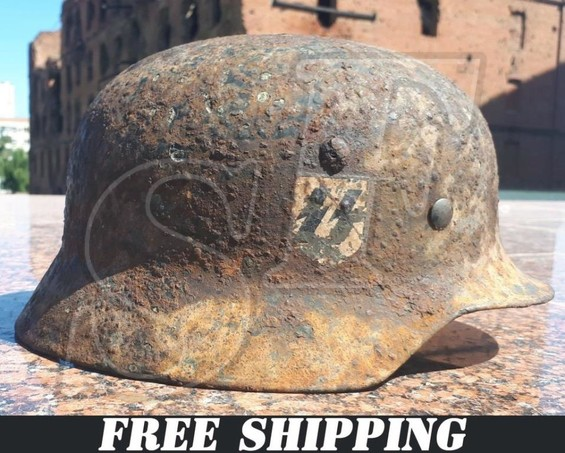 German helmet M35 Waffen SS from Karelia