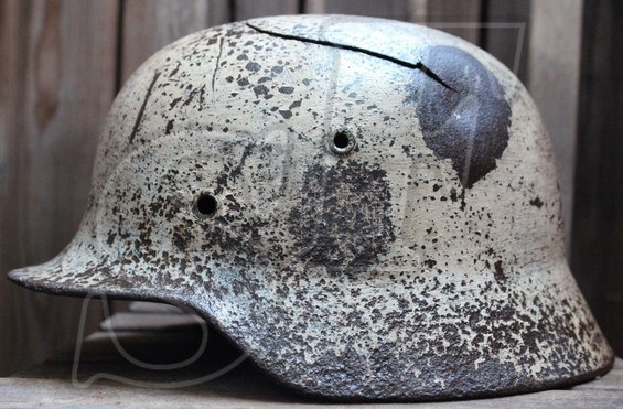 German helmet M40 from Pskov