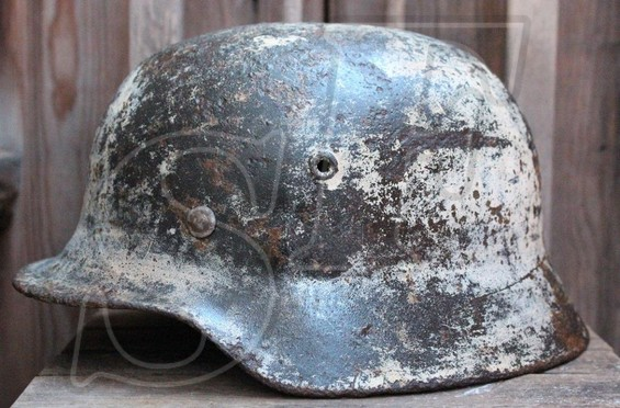German helmet M40 / Novgorod region