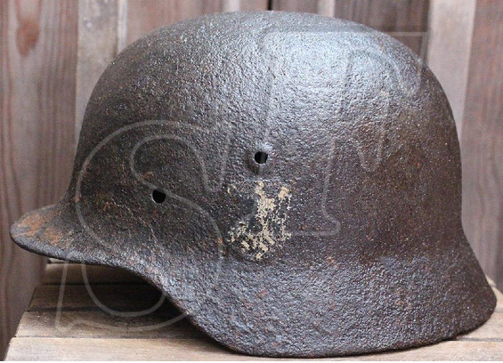German helmet M40 / from Smolensk