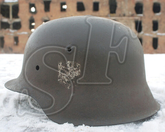 German helmet M42, Wehrmacht / from Stalingrad